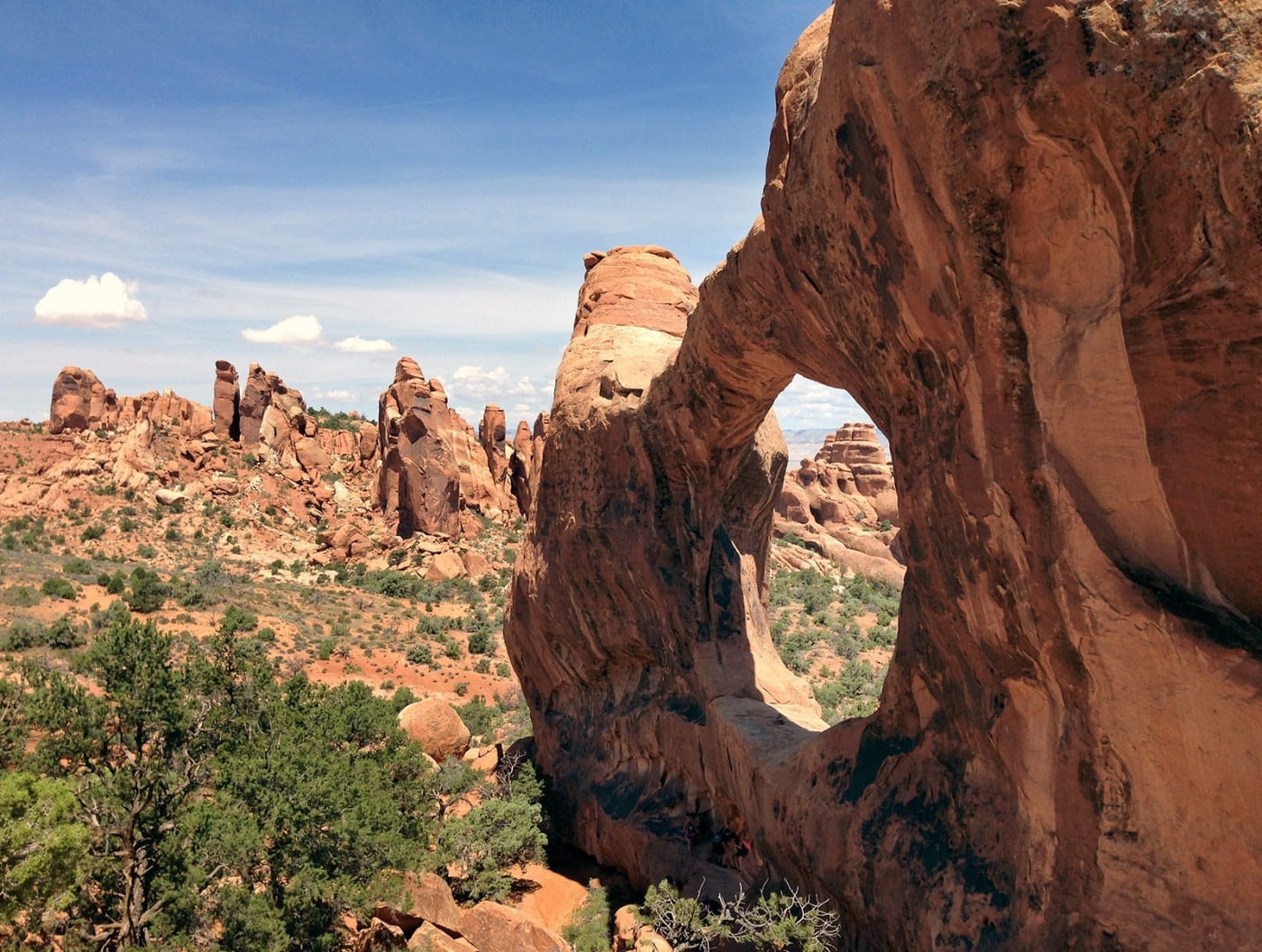 Arches and rock fins in Arches National Park, a perfect place for adventure travel
