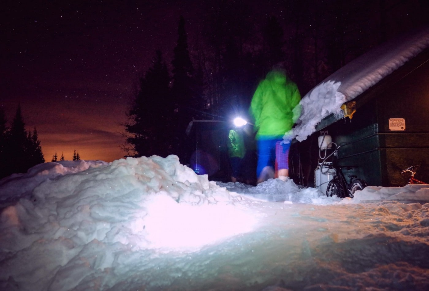 Backcountry Skiing while Pregnant - Evening