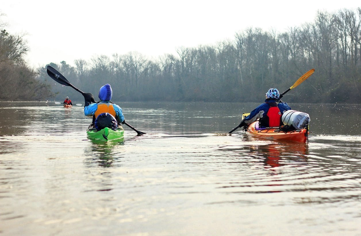 Source to sound winter paddle on the Roanoke - The Bluffs