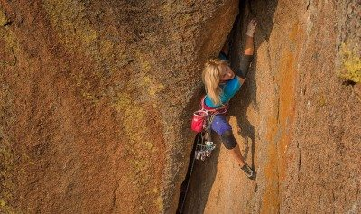 In response to GQ Style's Sexist Climbing Post. Climber: Pamela Shanti Pack Photo: Jason Gebauer