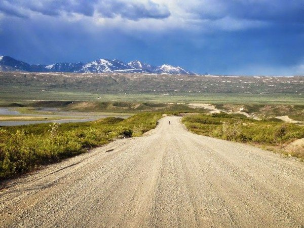 Alaska Bicycling Tour - dirt road