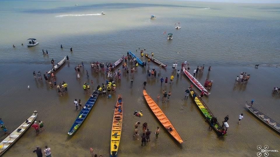 Paddling Pirogues in French Guiana - colors